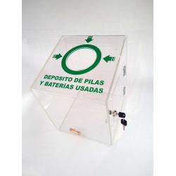 Contenedor para reciclaje de pilas y baterias
